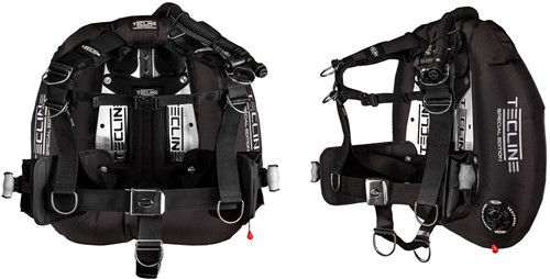 """Tecline Donut 22 Special Edition black, with Comfort Harness, weight pocket and backplate soft pad """"""""H"""""""""""