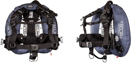 """Tecline Donut 22 Special Edition blue, with Comfort Harness, weight pocket and backplate soft pad """"""""H"""""""""""