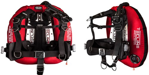 """Tecline Donut 22 Special Edition red, with Comfort Harness, weight pocket and backplate soft pad """"""""H"""""""""""