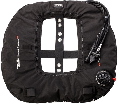 Tecline Donut 22 Special Edition Rebreather II, black (22kg/50lbs) - customize IFLP hose length