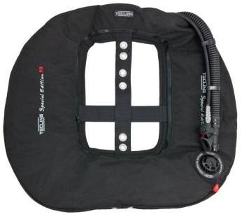 Tecline Donut 22 Special Edition Rebreathe, black (22kg/50lbs) - customize IFLP hose length
