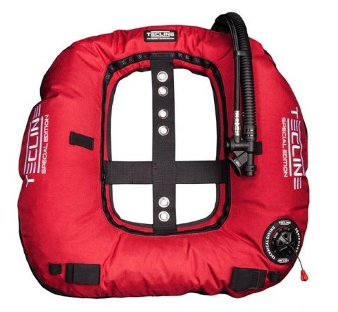 Tecline Donut 22 Special Edition Rebreather II, red (22kg/50lbs) - customize IFLP hose length