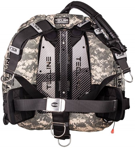 Tecline Donut 22 Special Edition Camo, Carbon backplate with DIR harness and weight pockets