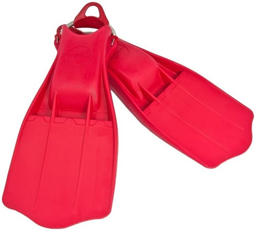 Tecline Rubber Fins Jetstream with SS spring straps XL - red