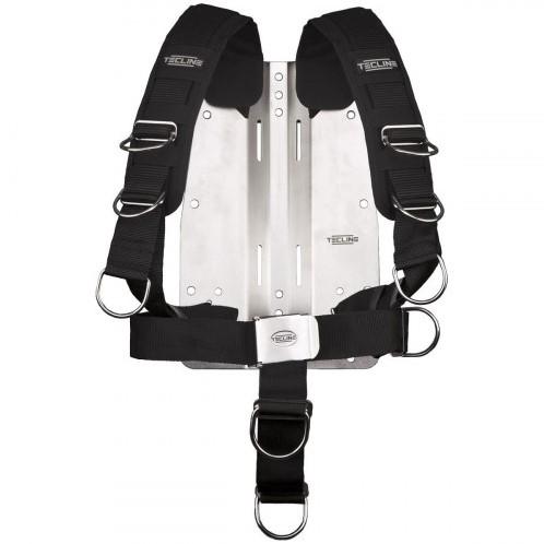 Tecline Comfort Harnas (Verstelbaar) Met Standaard Webbing + 3mm Stalen Backplate