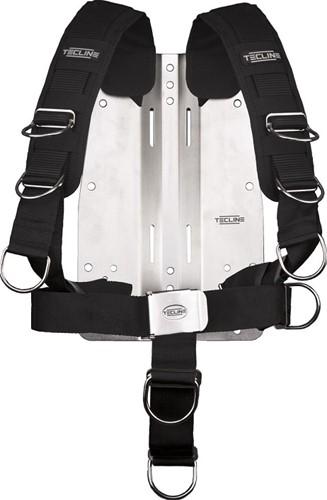 Tecline Comfort Harnas (Verstelbaar) Met Standaard Webbing + 6mm Stalen Backplate