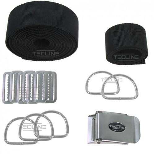 Tecline Harness only Tecline DIR standard webbing - fixed d-rings