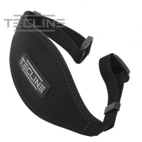 Tecline Neoprene mask strap with buckles - TecLine logo