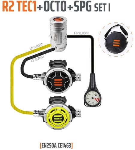 Tecline R2 / Tec1 Automatenset I (Met Enkele Manometer)