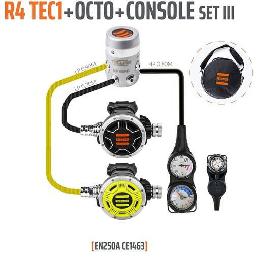 Tecline R4 / Tec1 Automatenset III (Met Manometer, Dieptemeter en Kompas)