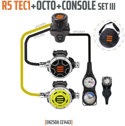 Tecline R5 / Tec1 Automatenset III (Met Manometer, Dieptemeter en Kompas)
