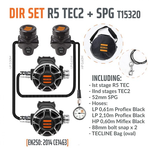 Tecline R5 / Tec2 DIR Automatenset Met Manometer