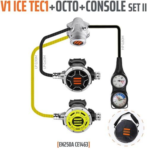 Tecline V1 Ice / Tec1 Automatenset II (Met Manometer En Dieptemeter)