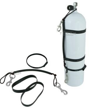 Tecline Stage rigging kit for 5,7L, 120 mm, SS bolt snap, rubber bands