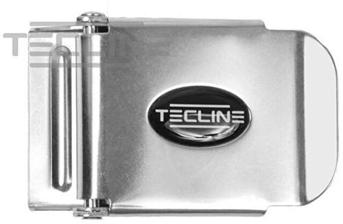Tecline Stalen Gesp Voor Loodgordels 50mm Met Logo