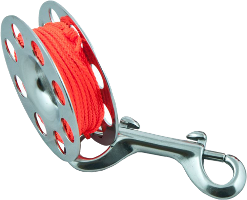 Tecline Spool SS 10 m, with SS 100 mm snap