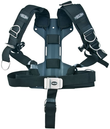 Tecline Harness Tecline Comfort standard webbing - incl. 3mm aluminum backplate H - weight 1,54 kg