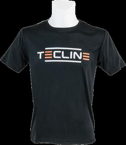 Tecline T-shirt Tecline E, microfiber, black XXL