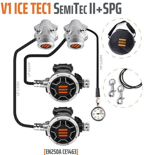 Tecline V1 Ice / Tec1 SemiTec II Automatenset Met Manometer