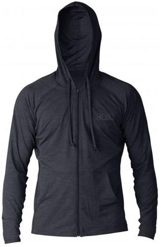 Xcel ThreadX Frontzip Hooded L/S - Black - M