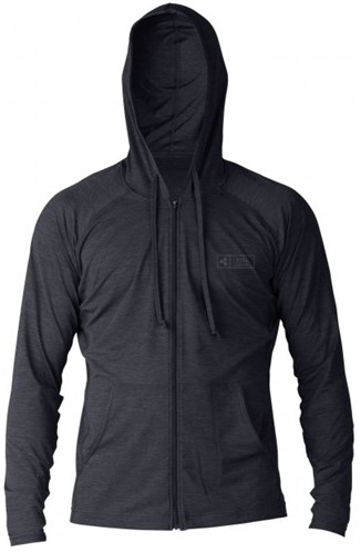 Xcel ThreadX Frontzip Hooded L/S - Black - XXL