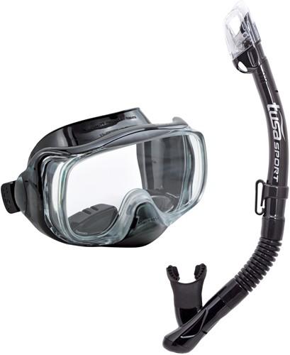 Tusa Uc-3325 Bk/Bk Mask & Snorkel Set