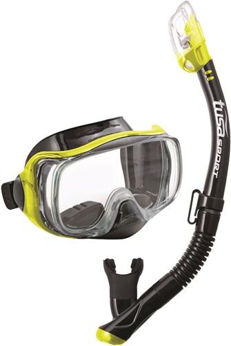 Tusa Uc-3325 Bk/Fy Mask & Snorkel Set