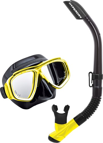 Tusa Uc-7519 Bk/Fy Mask & Snorkel Set