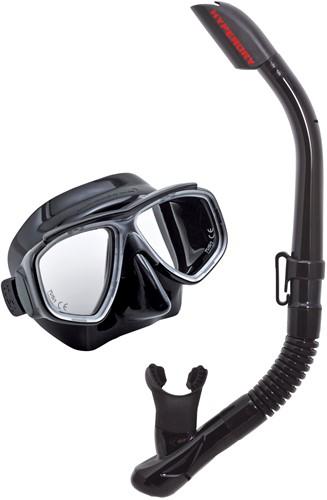 Tusa Uc-7519 Bk/Bk Mask & Snorkel Set