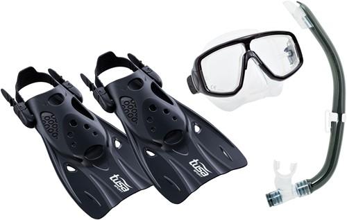 Tusa Up-0101 Bk/Bk M Mask, Snorkel, Fin  Set
