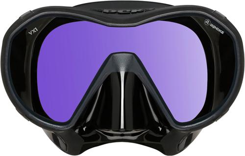 Apeks VX1 UV-Glas Duikmasker Zwart Silicone