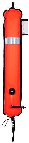 Xdeep DSMB Gesloten Onderkant Oranje 90cm Markeringsboei