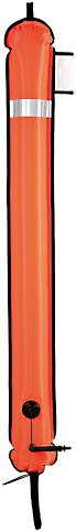 Xdeep DSMB Gesloten Onderkant Oranje 140cm Markeringsboei